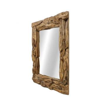 Framed Wall Mirror Root – Natural Teak