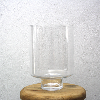 Clear Glass Flower Vase