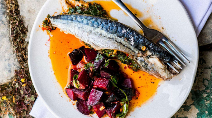 PLANK-COOKED MACKEREL WITH CHERMOULA & MOROCCAN BEETS (Edition 5, WK 38)