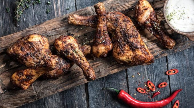 Crispy Chicken With Basic Rub