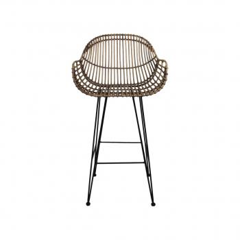 Black Wash Bar Chair