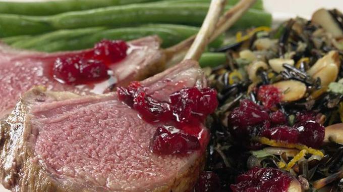 Cranberry-Marinated Rack Of Lamb