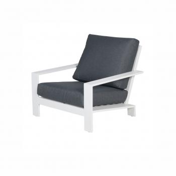 Lincoln Lounge Chair – Matt White / Reflex Black