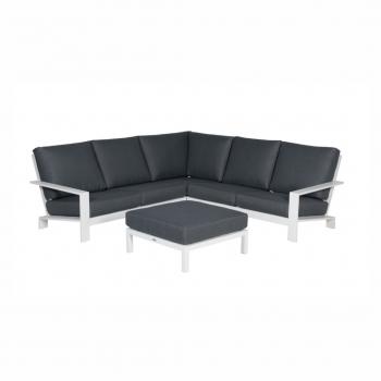 Lincoln Lounge Set – Matt White / Reflex Black