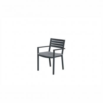 Oklahoma Dining Chair – Carbon Black / Mid Grey
