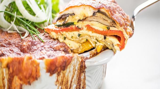 Vegetarian Lasagne With Provençal Vegetables And A Fennel Salad