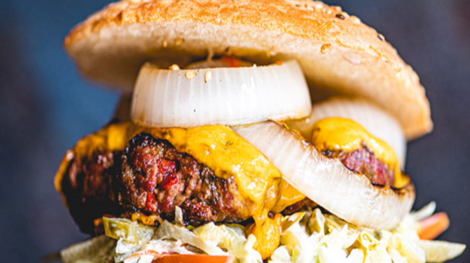 Picanha Burger With Cheddar And Grilled Onion