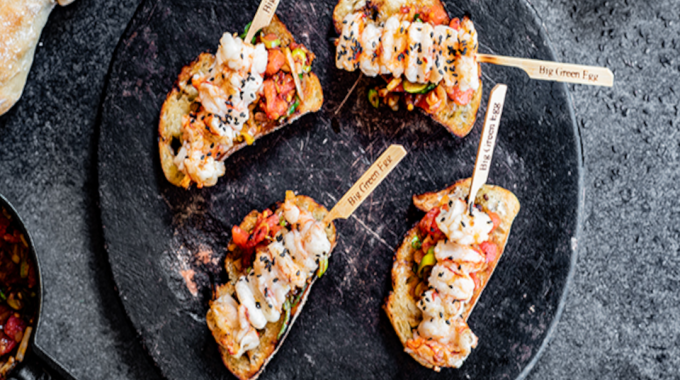 Prawn Skewers With Toast And Antiboise