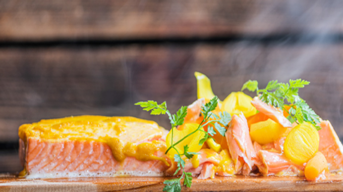 Pulled Salmon With Sweet 'n' Sour Vegetables
