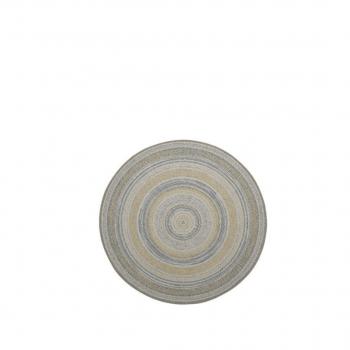 Stripes Carpet Ø 160 Ocher / Blue