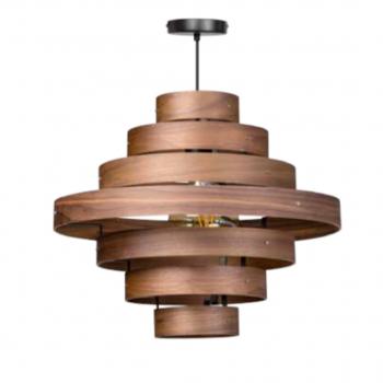 Walnut 7 Rings Pendant Lamp